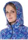"""Куртка деми 3в1 """"Бритни"""" пейсли на синем для беременных и слингоношения"""