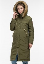 Куртка-парка 2в1 зимняя Долли зеленая NEW для беременных..