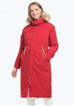 Куртка-парка 2в1 зимняя Долли красная для беременных..