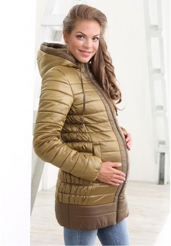 771b630c6476 Куртка зимняя Лара хаки для беременных купить в Минске - Imum.by
