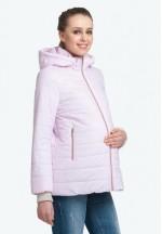 Куртка деми Милана розовая для беременных..
