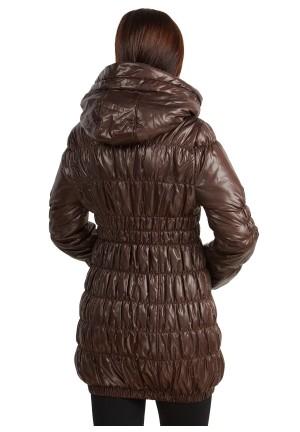 """Куртка деми 3в1 """"Сандра"""" коричневая для беременных и слингоношения"""