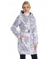 """Куртка демис. 3в1 """"Вуаля"""" пэйсли на белом для беременных и слингоношения"""