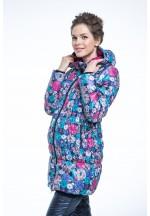 Куртка зимняя Александра розовая для беременных (010675)..
