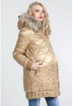 Куртка зимняя Ангелика золото для беременных (031277)..