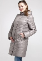 Куртка-пальто зимняя Магнолия капуччино для беременных (041237)..