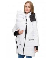 """Куртка 3в1 зима """"Манила"""" белая для беременных и слингоношения"""