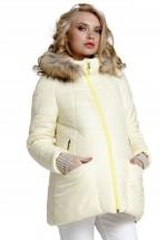 Куртка зимняя Майя жёлтая для беременных (031205)..