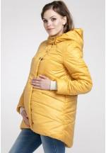 Куртка зимняя Сантини медовая для беременных (041218)..