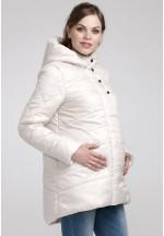 Куртка зимняя Сантини молочная для беременных (041234)..