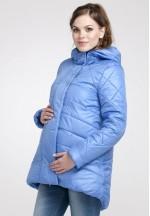 Куртка зимняя Сантини голубая для беременных (041208)..