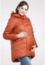 Куртка зимняя Сантини терракот для беременных (041250)..