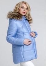 Куртка зимняя Сильвия голубая для беременных (031208)..