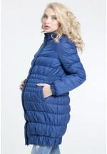 Куртка зимняя Вербена синяя для беременных со слинговставкой 3 в 1 (14..
