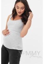 Майка серый меланж для беременных и кормящих (207.0.129)..