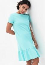 Платье с воланом ментол для беременных и кормящих..