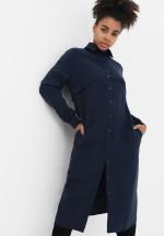 Платье темно-синее для беременных и кормящих (3027)..