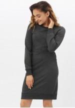 Платье-футляр спорт темно-серый меланж для беременных и кормящих..
