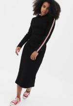 Платье черное с лампасами для беременных и кормящих..