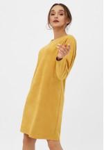 Платье замшевое горчичное для беременных и кормящих..
