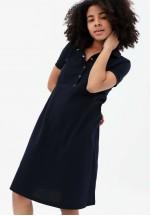 Платье-поло синее для беременных и кормящих ..