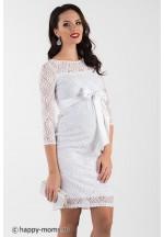 Свадебное платье для беременных белое гипюр (99275) 07c48809452