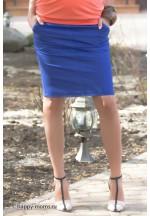 Юбка синяя для беременных (00043)..