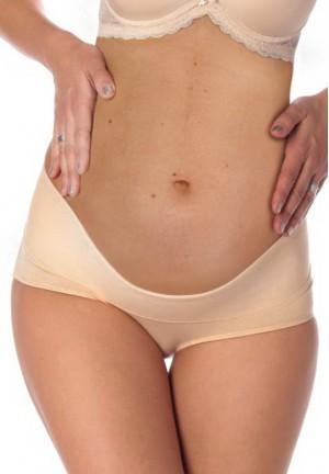 Корсет-трусы мягкий под живот для беременных (бежевый)