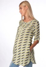 Блуза-рубашка желтая для беременных и кормящих (ем 8001)..