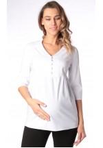 Блуза белая для беременных и кормящих (ем 8003)..
