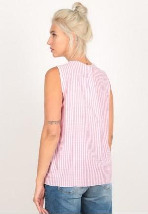 Блуза розовая полоска для беременных (8106)