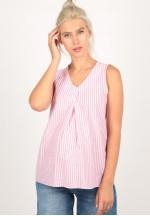 Блуза розовая полоска для беременных (8106)..