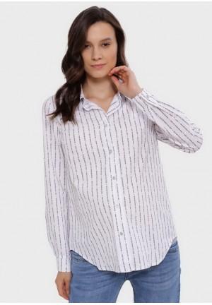 """Рубашка """"Арина"""" белая/буквы  для беременных и кормящих"""