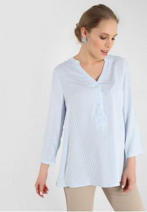 """Блуза """"Девика"""" голубая полоса для беременных и кормящих"""