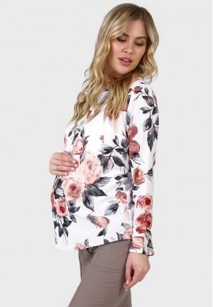 """Блуза """"Джессика"""" цветы для беременных"""