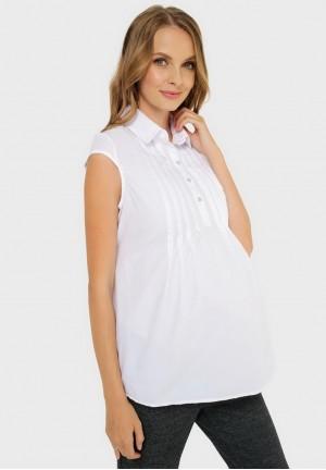 """Блуза """"Каролина"""" белая для беременных"""