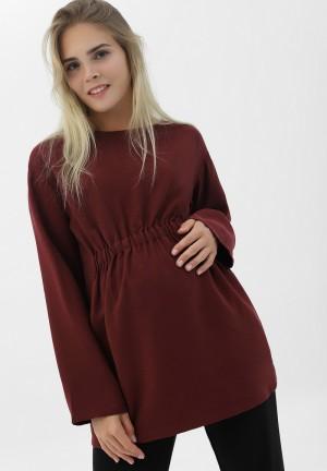 Блуза бордовая для беременных (2089)