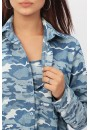 Рубашка джинс милитрари с внутренним топом для беременных и кормящих