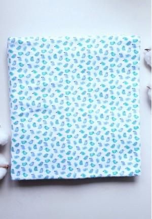 Пеленка фланелевая 95х100см (Птички-синички)