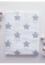 Пеленка фланелевая 80х100см (Большие звезды)..