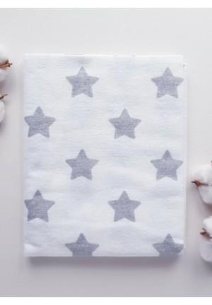 Пеленка фланелевая 80х100см (Большие звезды)