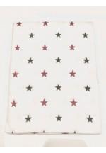 Пеленка фланелевая 80х100см (Красно-серые звезды)..