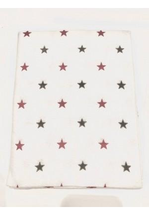 Пеленка фланелевая 80х100см (Красно-серые звезды)