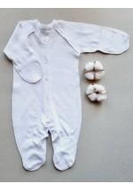 Комбинезон для новорожденного белый (3009)