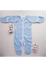 Комбинезон для новорожденного голубой теплый (3009)