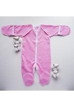 Комбинезон для новорожденного розовый теплый (3009)..