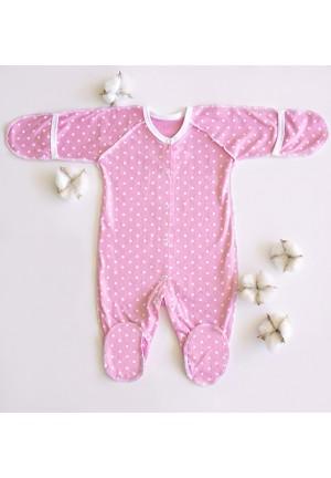 Комбинезон для новорожденного Розовые горошки (3009)