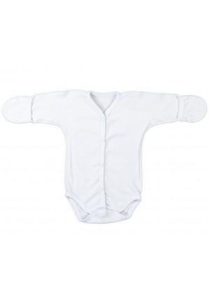 Боди-полукомбинезон для новорожденного белый (3017)