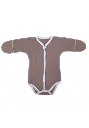 Боди-полукомбинезон для новорожденного коричневый (3018)