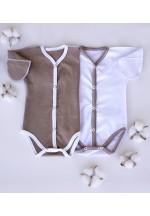 Боди-полукомбинезон для новорожденного белый (3014)
